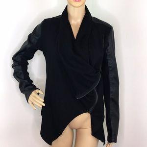 BlankNYC Black Draped Jacket